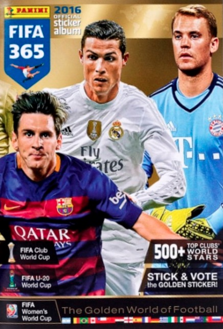 2016 Panini FIFA 365 The Golden World of Football Stickers Album