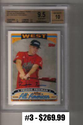 Top 10 eBay Baseball Card Sales: Freddie Freeman 9