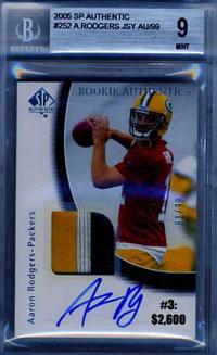Top 10 eBay Football Card Sales: Aaron Rodgers 9