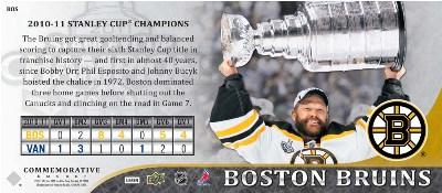 2011 Upper Deck Boston Bruins Stanley Cup Champions 4