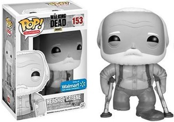 Funko Pop Walking Dead Black and White Hershel Greene Walmart Exclusive