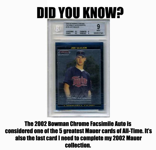 Virtual Card Show: Joe Mauer Baseball Cards 3