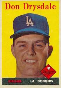 Top 10 Don Drysdale Baseball Cards 9