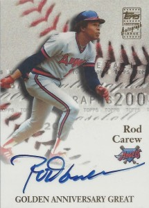 2001 Topps Golden Anniversary Rod Carew Autograph