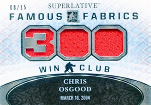 2015-16 Leaf ITG Superlative Hockey Famous Fabrics 300 Win Club