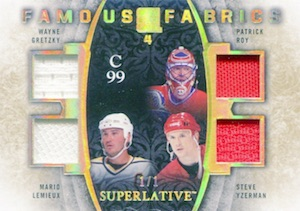 2015-16 Leaf ITG Superlative Hockey Famous Fabrics 4