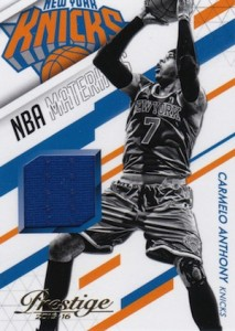 2015-16 Panini Prestige Basketball NBA Materials Carmelo