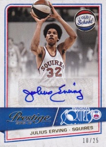 2015-16 Panini Prestige Basketball Old School Signatures Julius Erving