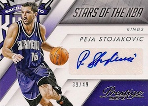 2015-16 Panini Prestige Basketball Stars of the NBA Signatures