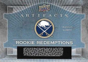 2015-16 Upper Deck Artifacts Jack Eichel Rookie Redemption