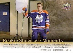 2015-16 Upper Deck Fall Expo Hockey Promo NHLPA Rookie Showcase Moments McDavid