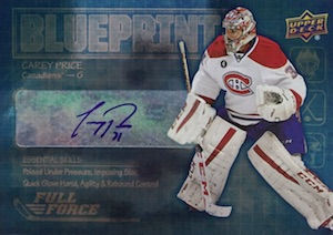 2015-16 Upper Deck Full Force Hockey Blueprint Autographs