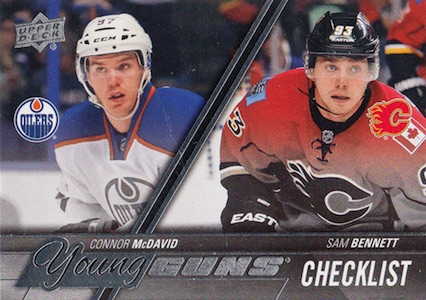 2015-16 Upper Deck Series 1 Hockey Young Guns RC Checklist McDavid Bennett