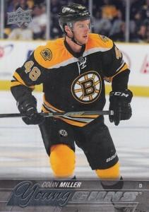 2015-16 Upper Deck Series 1 Hockey Young Guns RC Colin Miller