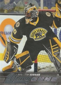 2015-16 Upper Deck Series 1 Hockey Young Guns RC Malcolm Subban