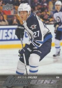 2015-16 Upper Deck Series 1 Hockey Young Guns RC Nikolaj Ehlers