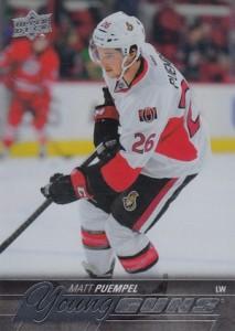 2015-16 Upper Deck Series 1 Hockey Young Guns RC Puempel