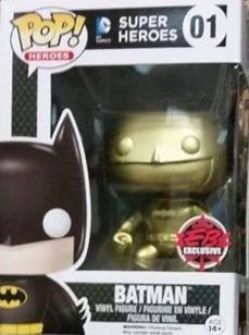 2015 Funko GameStop Black Friday Mystery Box Gold Batman