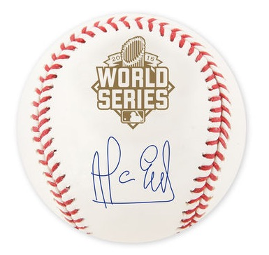 2015 Kansas City Royals World Series Autographs