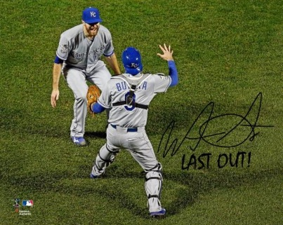 2015 Kansas City Royals World Series Signed Photo Wade Davis