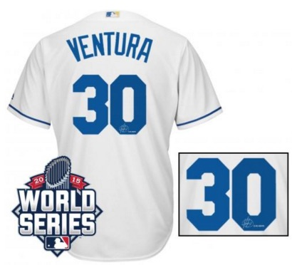 2015 Kansas City Royals World Series Signed jersey Yordano Ventura