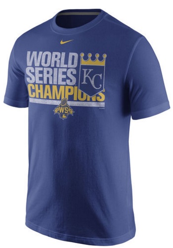 2015 Nike Royals World Series Champions Celebration T-Shirt