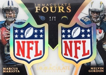 2015 Panini Immaculate Football Fours Shield Mariota