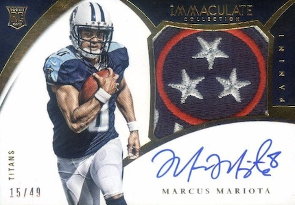 2015 Panini Immaculate Football Premium Patches Rookie Autographs Mariota