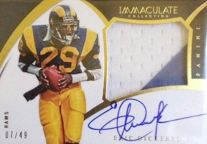 2015 Panini Immaculate Football Premium Patches