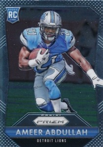 2015 Prizm Football Rookie Variations Base RC Ameer Abdullah