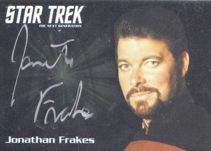 2015 Rittenhouse Star Trek The Next Generation Portfolio Prints Series 1 Autograph Frakes