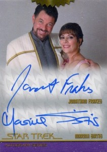2015 Rittenhouse Star Trek The Next Generation Portfolio Prints Series 1 Incentive Autograph Frakes Sirtis