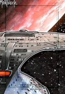 2015 Rittenhouse Star Trek The Next Generation Portfolio Prints Series 1 Sketch