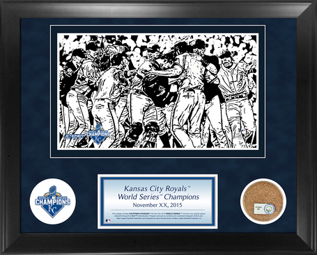 2015 Royals World Series Champions 11x14 Collage Game-Used Kauffman Field Dirt