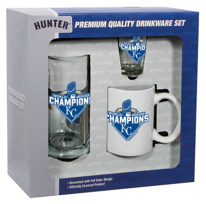 2015 Royals World Series Champions Three-Piece Drinkware Set