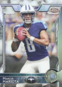 2015 Topps Chrome Base Marcus Mariota RC