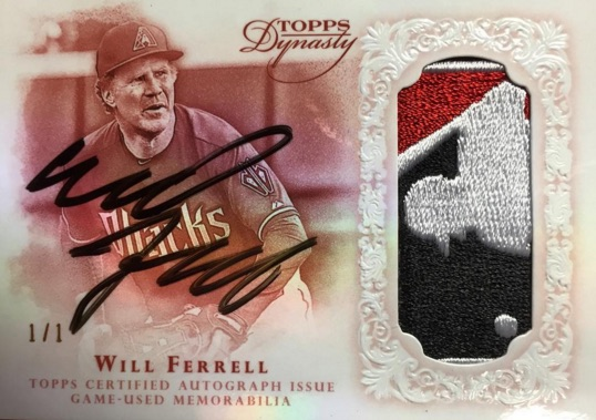 2015 Topps Dynasty Baseball Autographed Patch Will Ferrell
