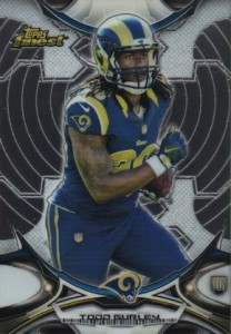 2015 Topps Finest Football Base RC Gurley