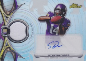 2015 Topps Finest Rookie Refractor Autographed Patch Diggs
