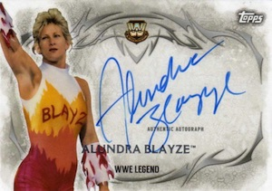2015 Topps WWE Undisputed Wrestling Autograph Alundra Blayze