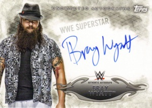 2015 Topps WWE Undisputed Wrestling Autograph Bray Wyatt