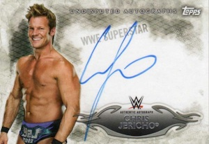 2015 Topps WWE Undisputed Wrestling Autograph Chris Jericho