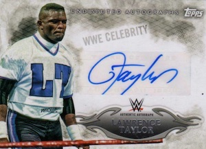 2015 Topps WWE Undisputed Wrestling Autograph Lawrence Taylor