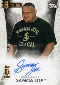 2015 Topps WWE Undisputed Wrestling Autograph NXT Samoa Joe
