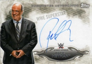 2015 Topps WWE Undisputed Wrestling Autograph Paul Heyman