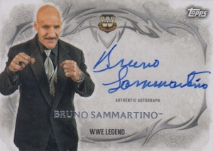 2015 Topps WWE Undisputed Wrestling Autograph Sammartino