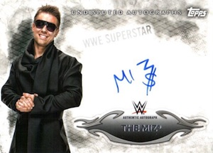 2015 Topps WWE Undisputed Wrestling Autograph The Miz