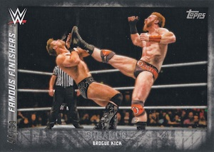 2015 Topps WWE Undisputed Wrestling Famous Finishers