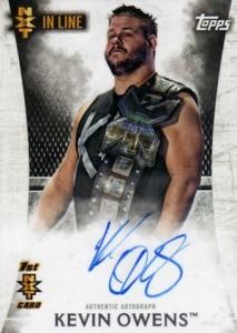 2015 Topps WWE Undisputed Wrestling NXT In Line Autographs Kevin Owens