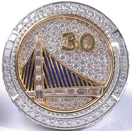 Golden State Warriors Replica 2015 Championship Rings & Trophies Seeing Strong Interest 3